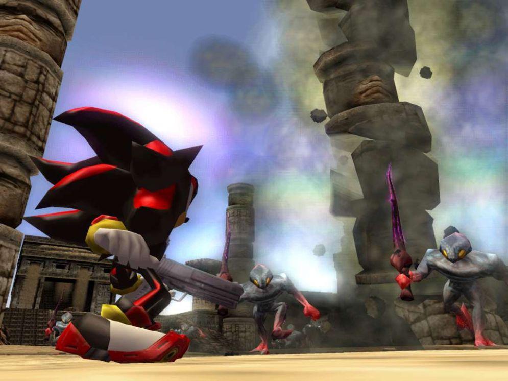 Screenshot ze hry Shadow The Hedgehog - Recenze-her.cz