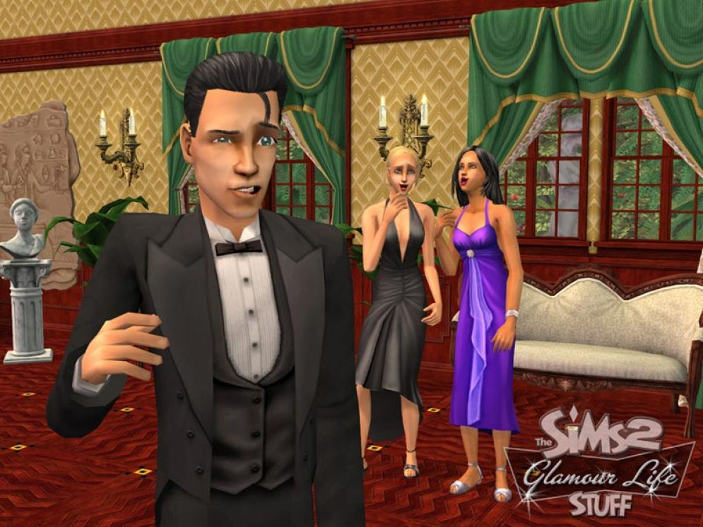 Screenshot ze hry The Sims 2: Glamour Life Stuff - Recenze-her.cz