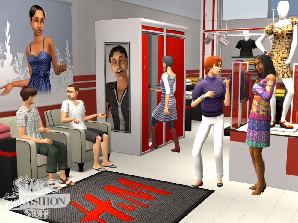 Screenshot ze hry The Sims 2: H&M Móda - Recenze-her.cz