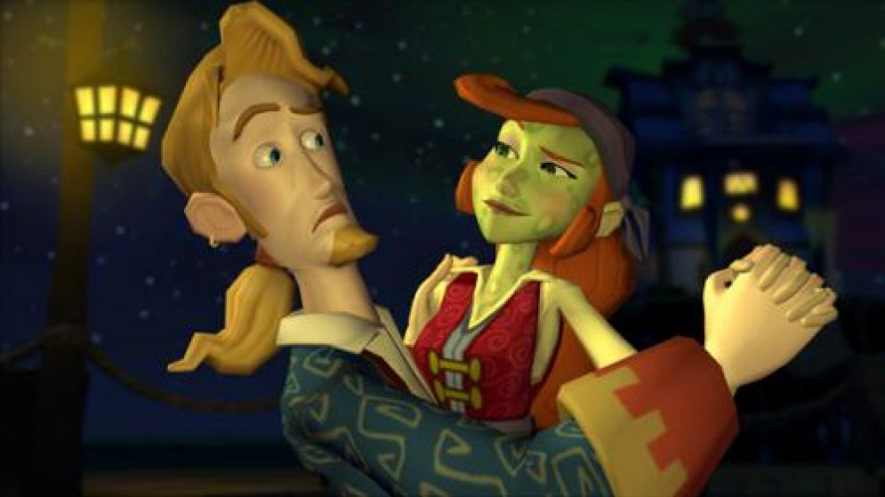 Screenshot ze hry The Trial and Execution of Guybrush Threepwood - Recenze-her.cz