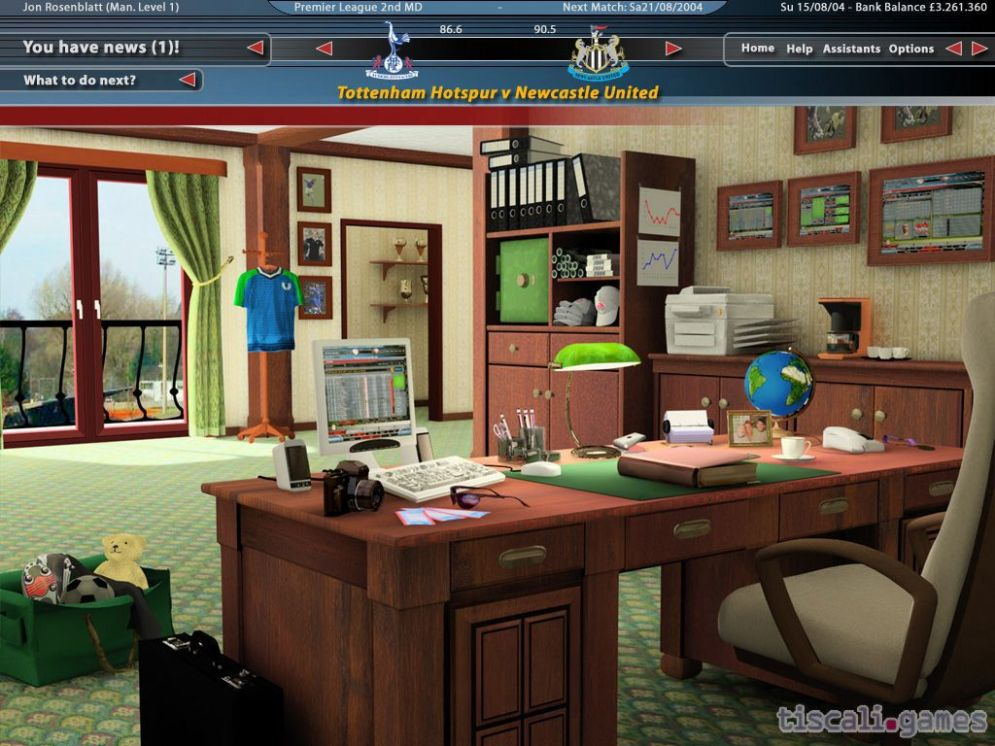 Screenshot ze hry Total Club Manager 2005 - Recenze-her.cz