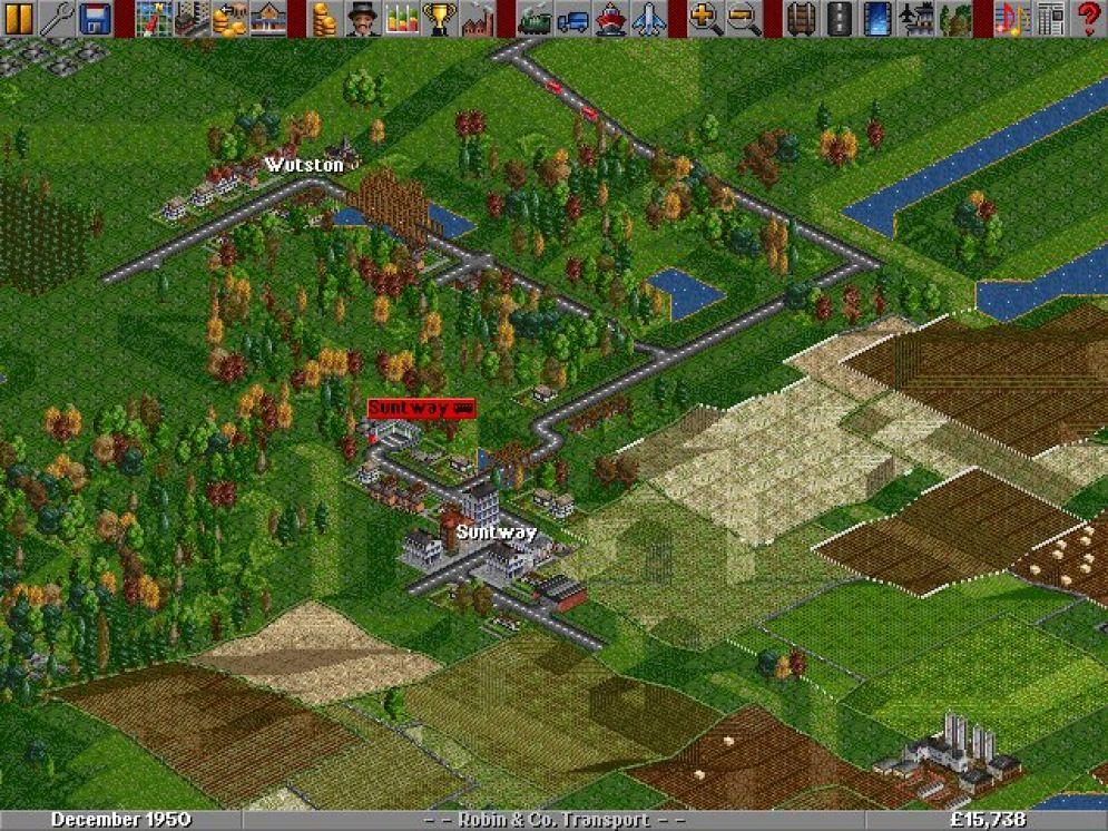 Screenshot ze hry Transport Tycoon - Recenze-her.cz