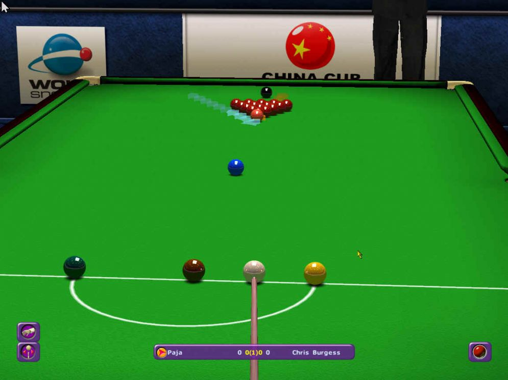 Screenshot ze hry World Championship Snooker 2003 - Recenze-her.cz