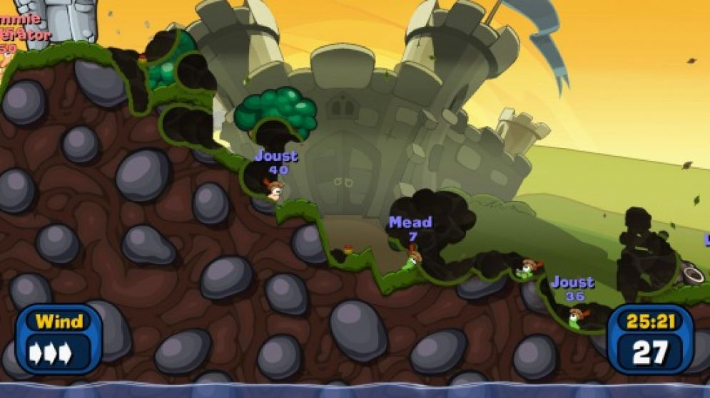 Screenshot ze hry Worms: Battle Islands - Recenze-her.cz