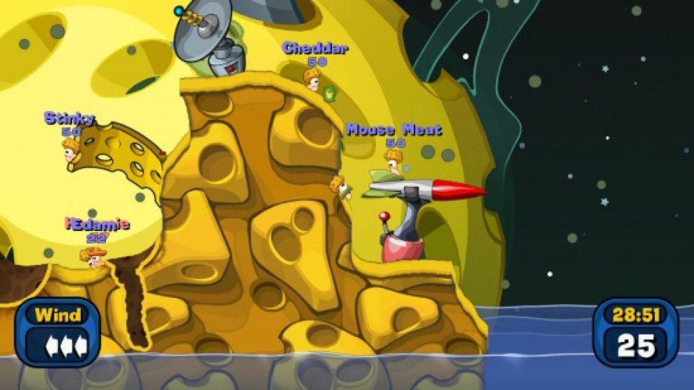 Screenshot ze hry Worms: Battle Islands - Recenze-her.cz