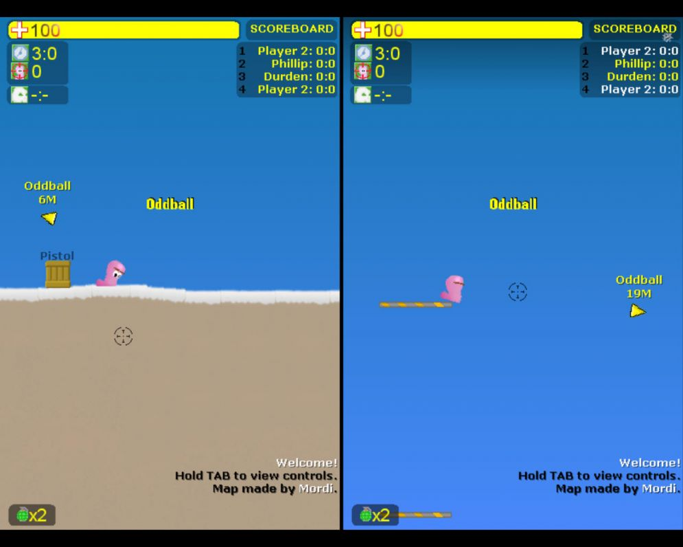 Screenshot ze hry Worms! (PC) - Recenze-her.cz