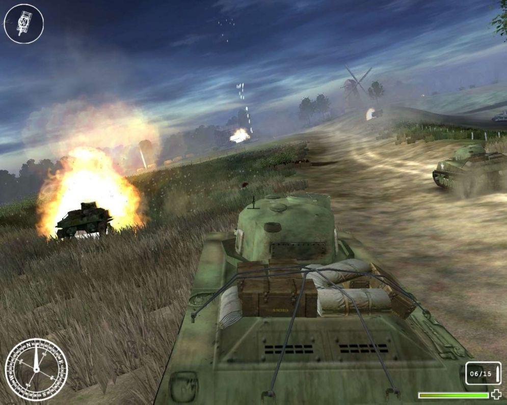 Screenshot ze hry WWII Tank Commander - Recenze-her.cz