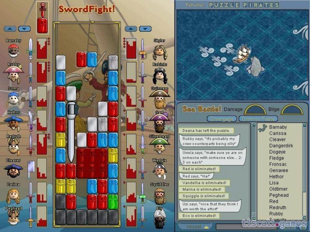 Screenshot ze hry Yohoho! Puzzle Pirates - Recenze-her.cz